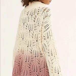 Free People Sweater Ombre Dip Dye  Oversize XS